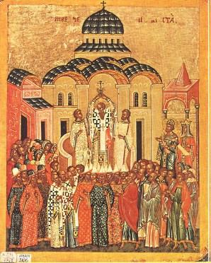 Воздвиженіе Честнаго и Животворящаго Креста Господня.